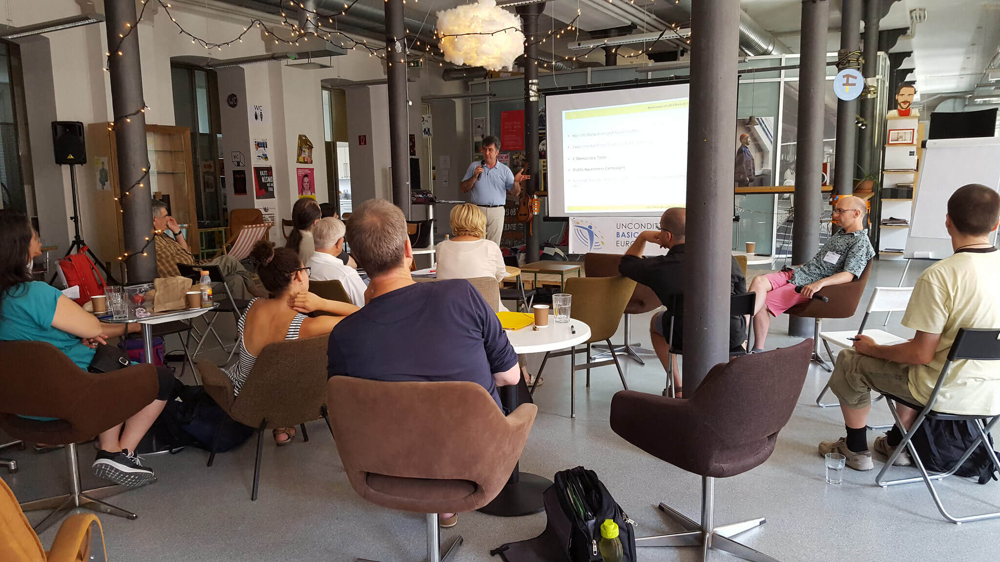 UBIE Create-athon in the co-working center Poligon in Ljubljana July 2017