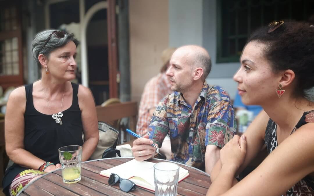 Barb Jacobson, Dániel Fehér and Aurélie Hampel